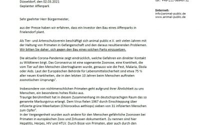 animal public kritisiert geplanten Affenpark Frielendorf